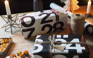 calendrier cadeau emballage